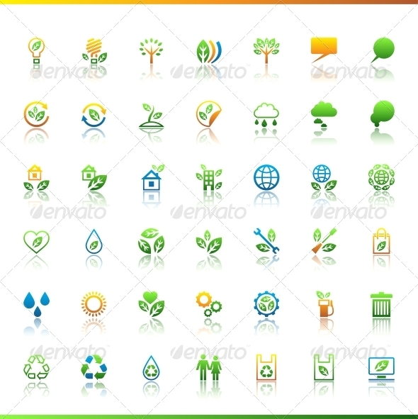 GraphicRiver Collection eco web icons 3884727