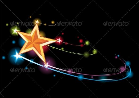 GraphicRiver Rainbow star 3884778
