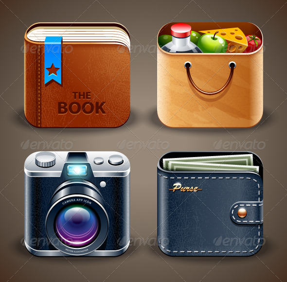 GraphicRiver High detailed apps icons 3884977