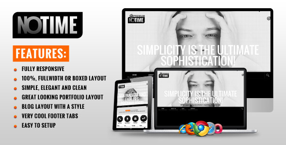 NOTIME - Business Portfolio WordPress Theme - Creative WordPress