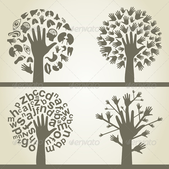 Hand a tree4 - People Characters