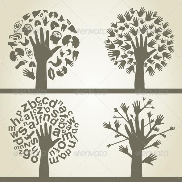 GraphicRiver Hand a tree4 3885155