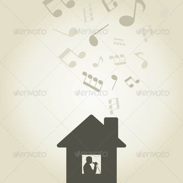 GraphicRiver Singer in the house 3885208