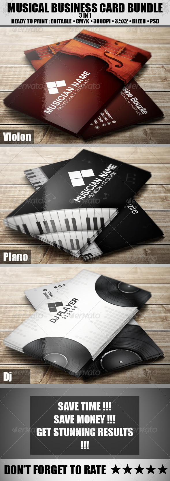 GraphicRiver The Musical Bundle 3885227