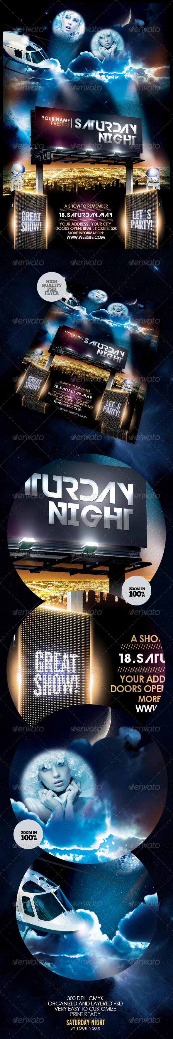 GraphicRiver Saturday Night Flyer Template 3795378