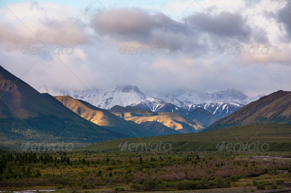 Mountains on Alaska - Stock Photo - Images