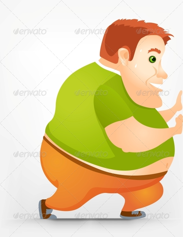 GraphicRiver Cheerful Chubby Man 3885547