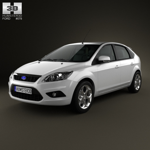 3DOcean Ford Focus hatchback 5-door 2009 3885553