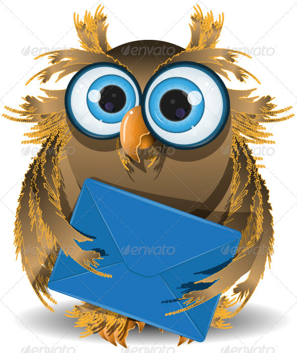 GraphicRiver Owl with a Letter 3885579