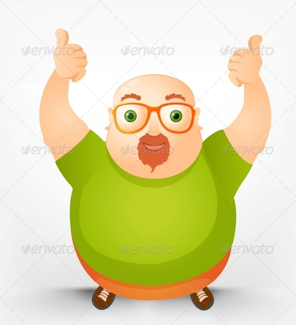 GraphicRiver Cheerful Chubby Man 3885582