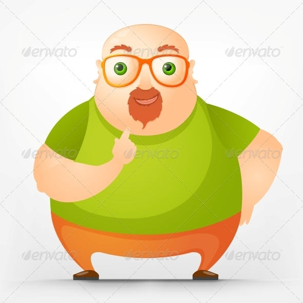 GraphicRiver Cheerful Chubby Man 3885587