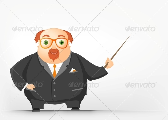 GraphicRiver Cheerful Chubby Man 3885589