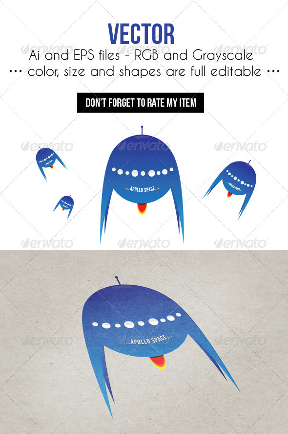 GraphicRiver Blue Rocket 3885687