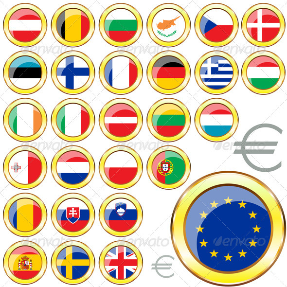 GraphicRiver European Union Buttons 3885722