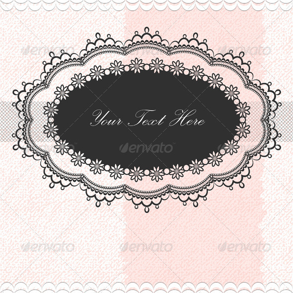 Vintage Frame On Textured Background - Backgrounds Decorative