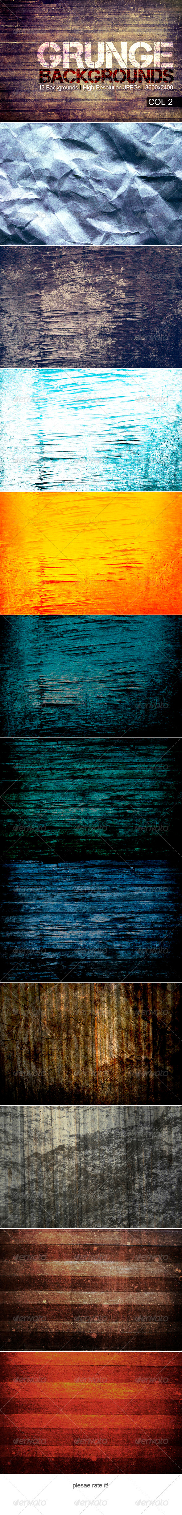 GraphicRiver Grunge Backgrounds Col 2 3886249