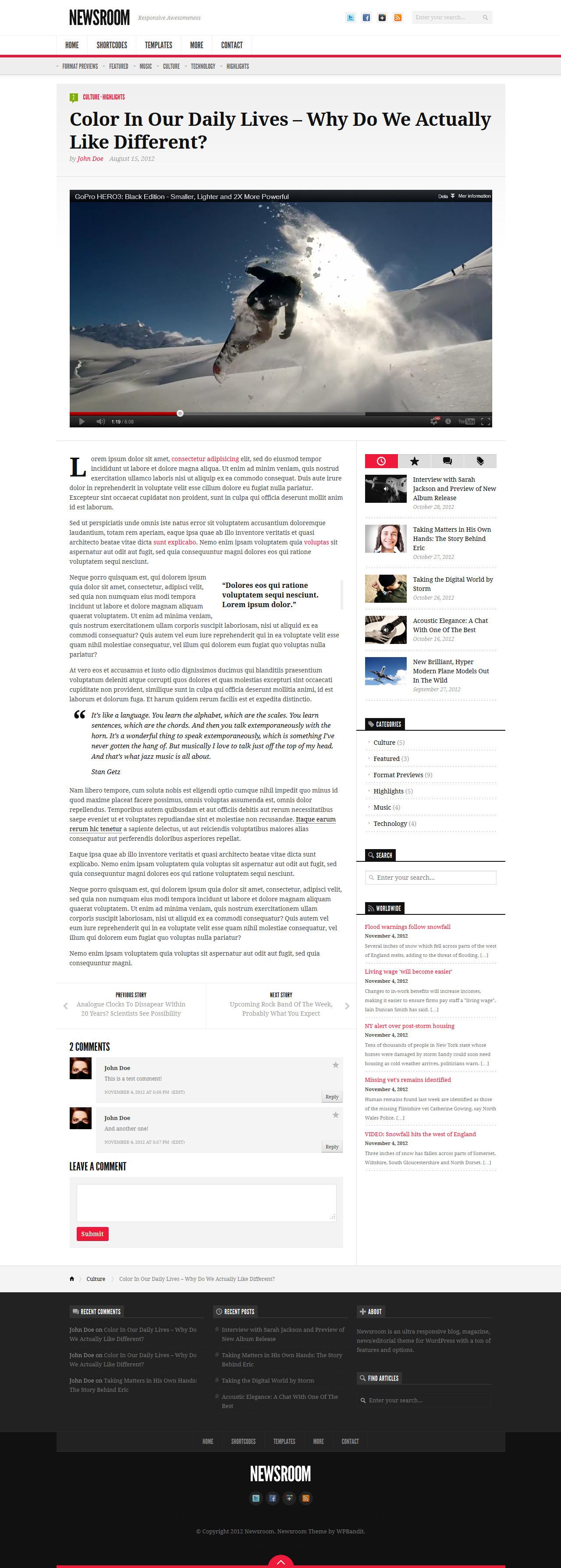 Newsroom - Responsive News & Magazine Theme