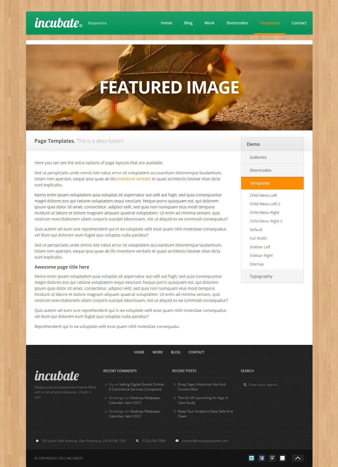 Incubate - Responsive Agency & Portfolio WordPress Theme