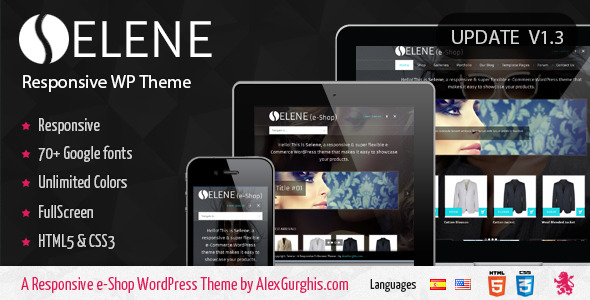 Selene - Fullscreen Premium WordPress Theme