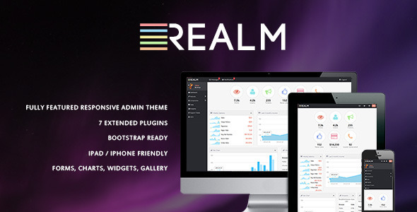 ThemeForest The Realm Clean & Modern Admin Template 3839869