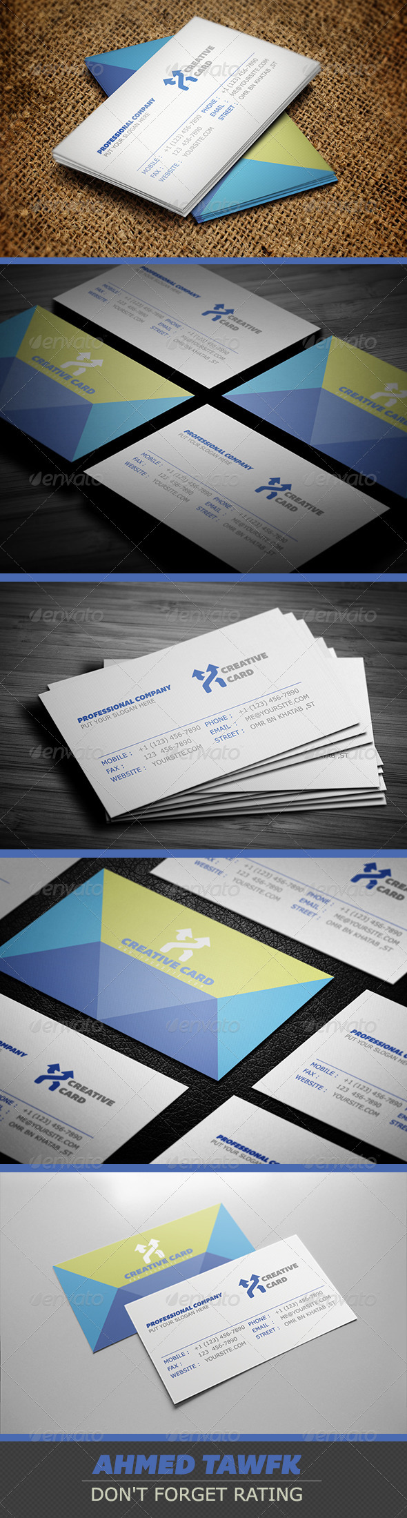 GraphicRiver Professional Company Business Cards 3886315