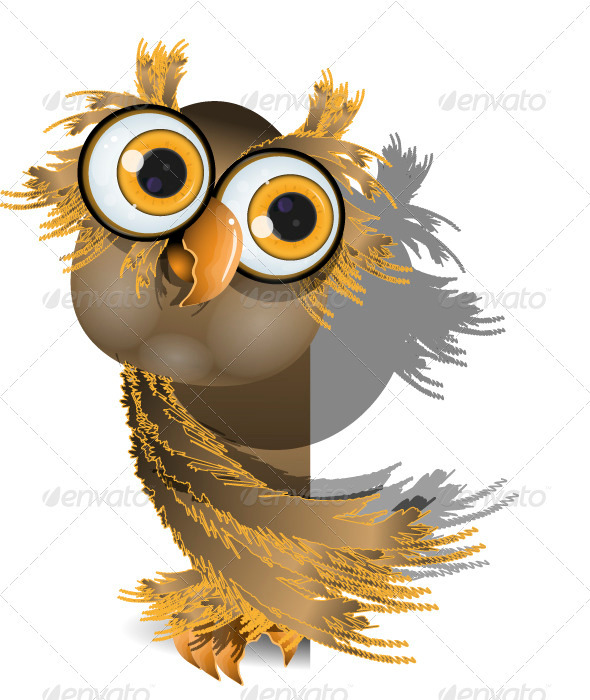 GraphicRiver Owl on White 3886395