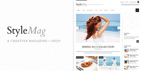 StyleMag - Responsive MagazineShop WP Theme