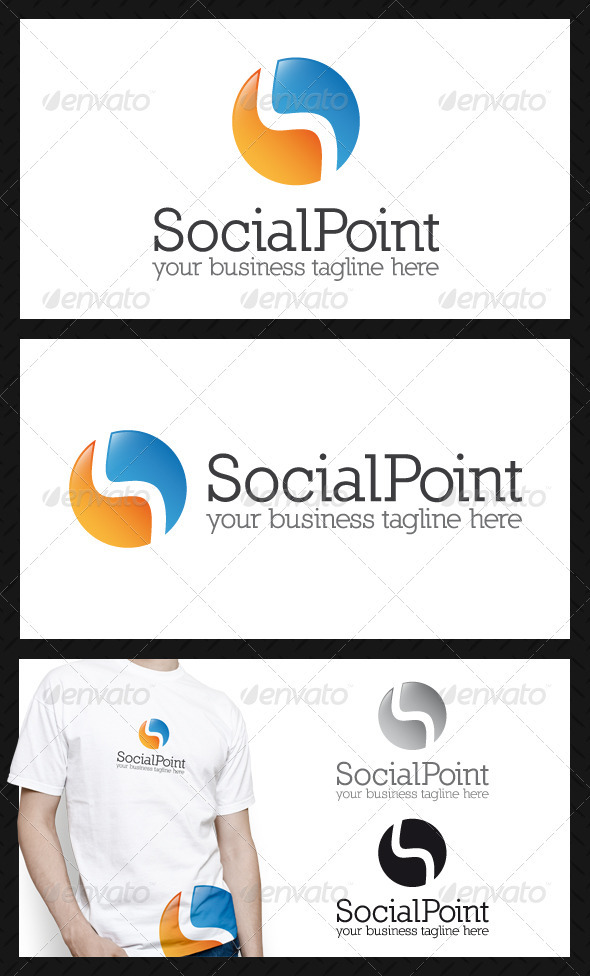 GraphicRiver Social Point Logo Template 3887158