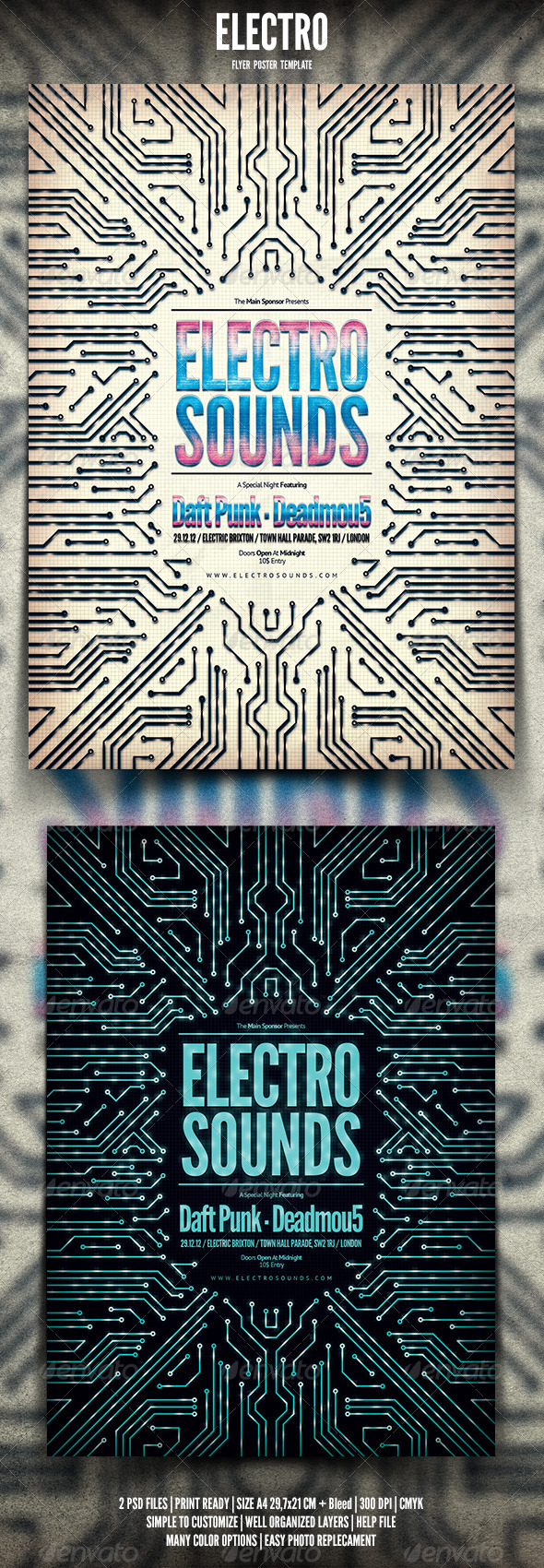 Electro Flyer / Poster - Events Flyers