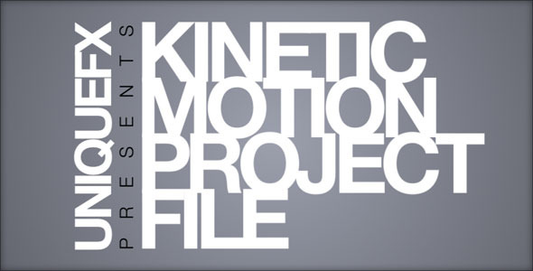 Apple Motion Templates - Kinetic Motion | VideoHive