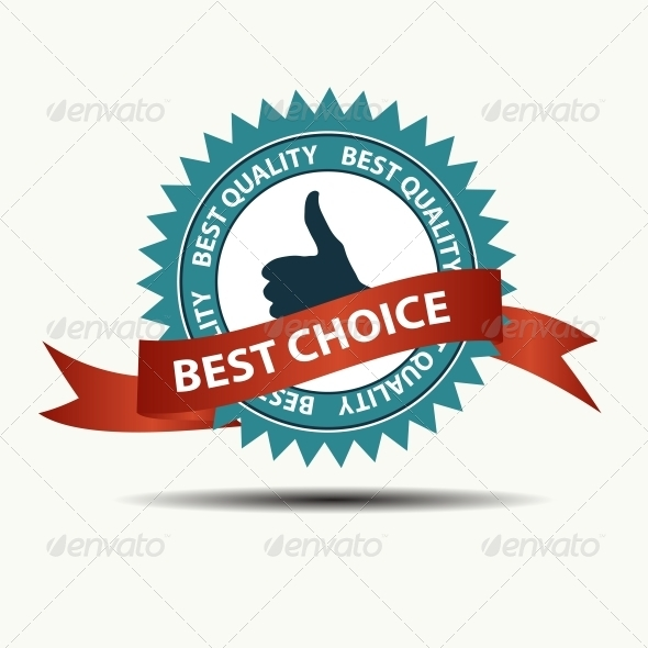 GraphicRiver Vector Best Choice Retro Label with Red Ribbon 3887289