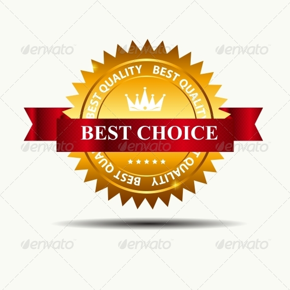 GraphicRiver Vector Best Choice Label with Red Ribbon 3887292