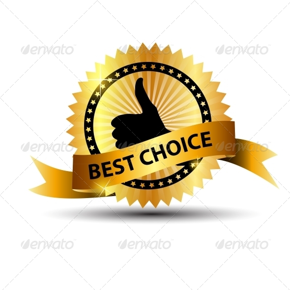 GraphicRiver Vector Best Choice Label with Gold Ribbon 3887302