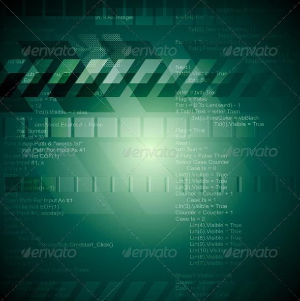 GraphicRiver Abstract Hi-Tech Vector Backdrop 3887758