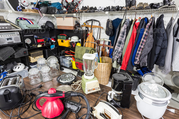 PhotoDune Garage Sale Thrift Store Clutter 3888202