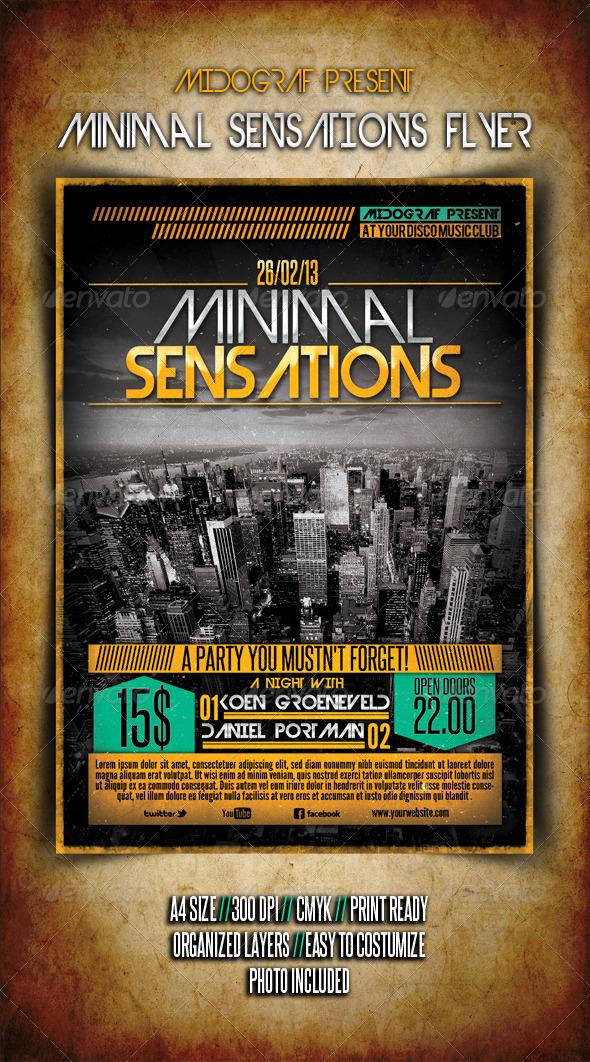 GraphicRiver Minimal Sensations Flyer 3888156
