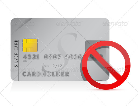 PhotoDune declined Credit Card illustration design 3895701