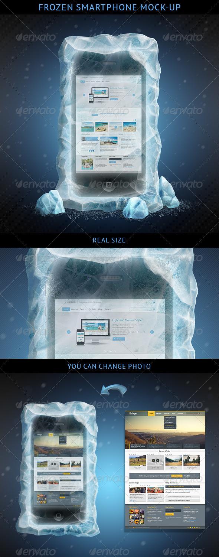 GraphicRiver Frozen Smartphone Mockup 3888897