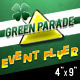 Green Parade - St Patrick's Day Themed Flyer