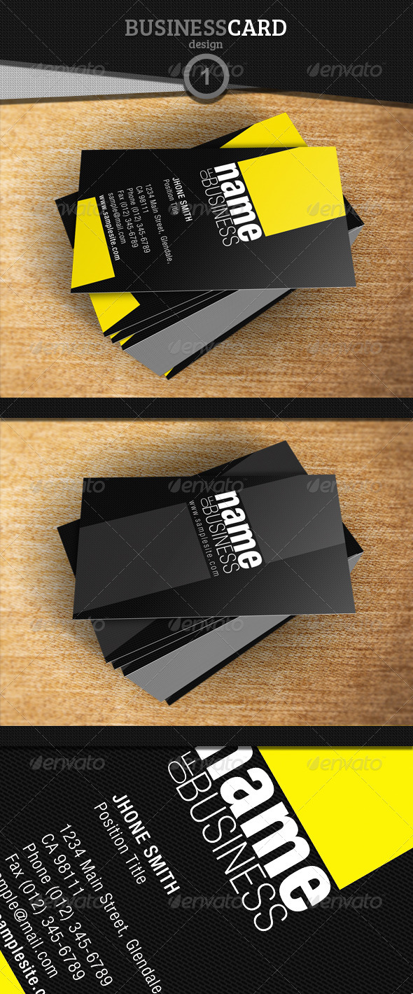 GraphicRiver Business Card Design 1 3809318