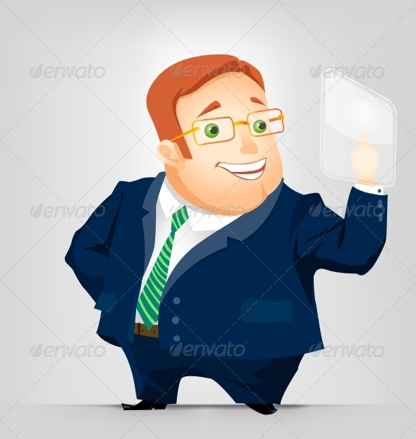 GraphicRiver Cheerful Chubby Man 3889479