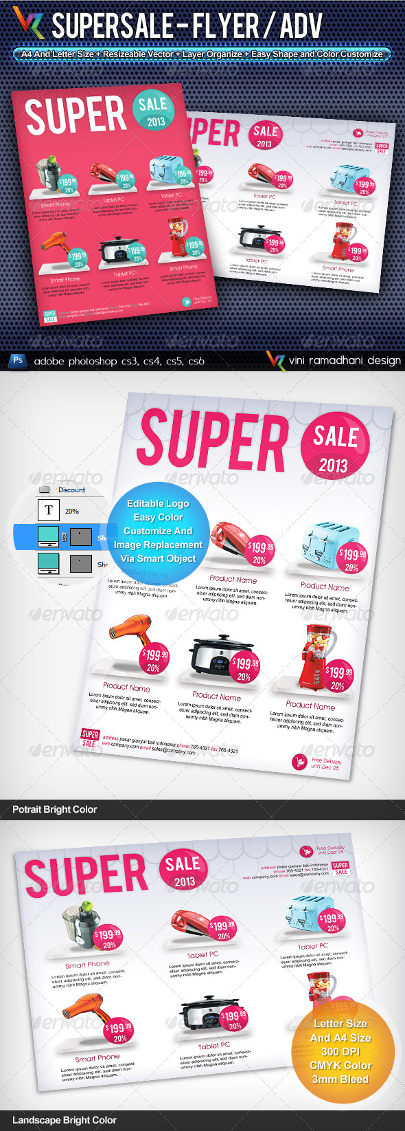 GraphicRiver Super Sale Flyer Or Advertising 3804272