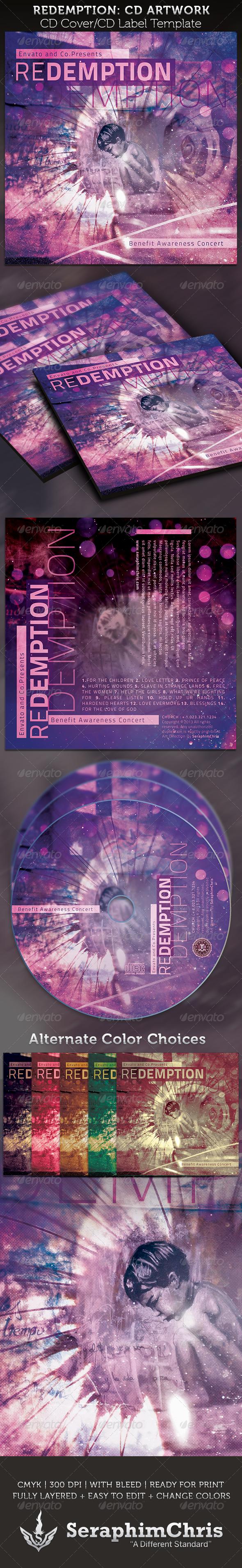 GraphicRiver Redemption Benefit Concert CD Artwork Template 3890238