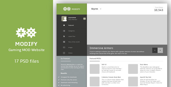ThemeForest Game Modding Website 3848266