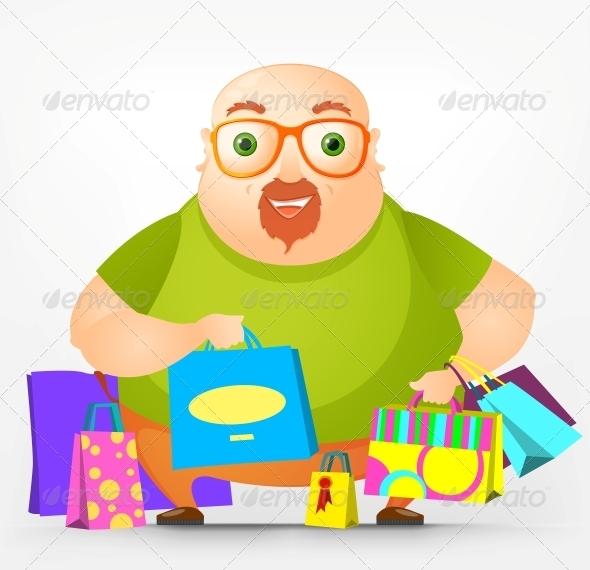 GraphicRiver Cheerful Chubby Man 3890848