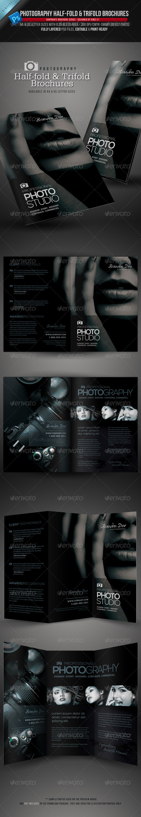 GraphicRiver Photography Half-Fold and Trifold Brochures 3890851