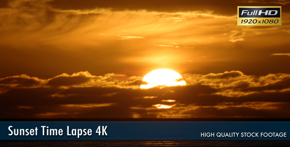 Sunset Time Lapse 4K