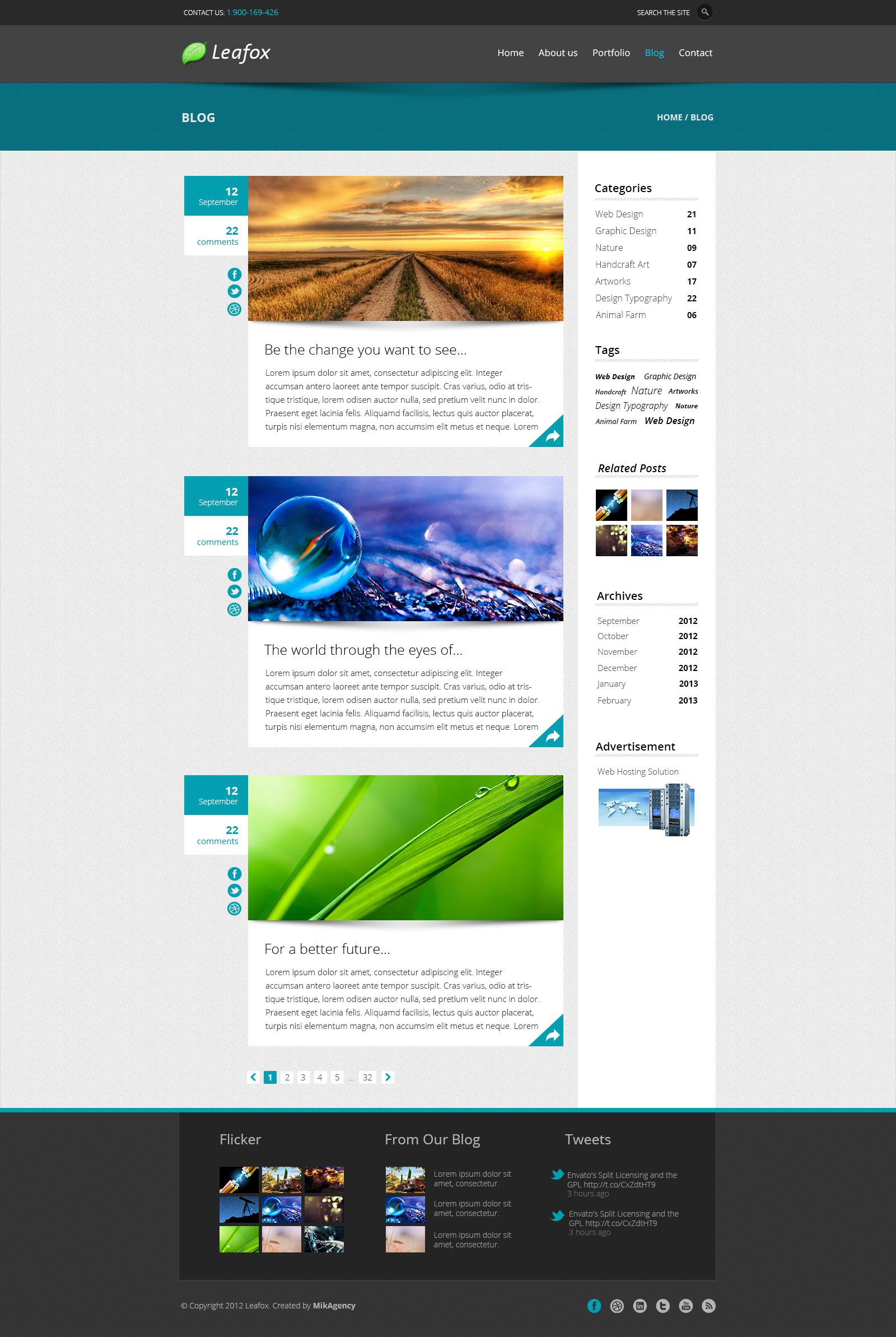 Leafox - Multipurpose PSD Theme