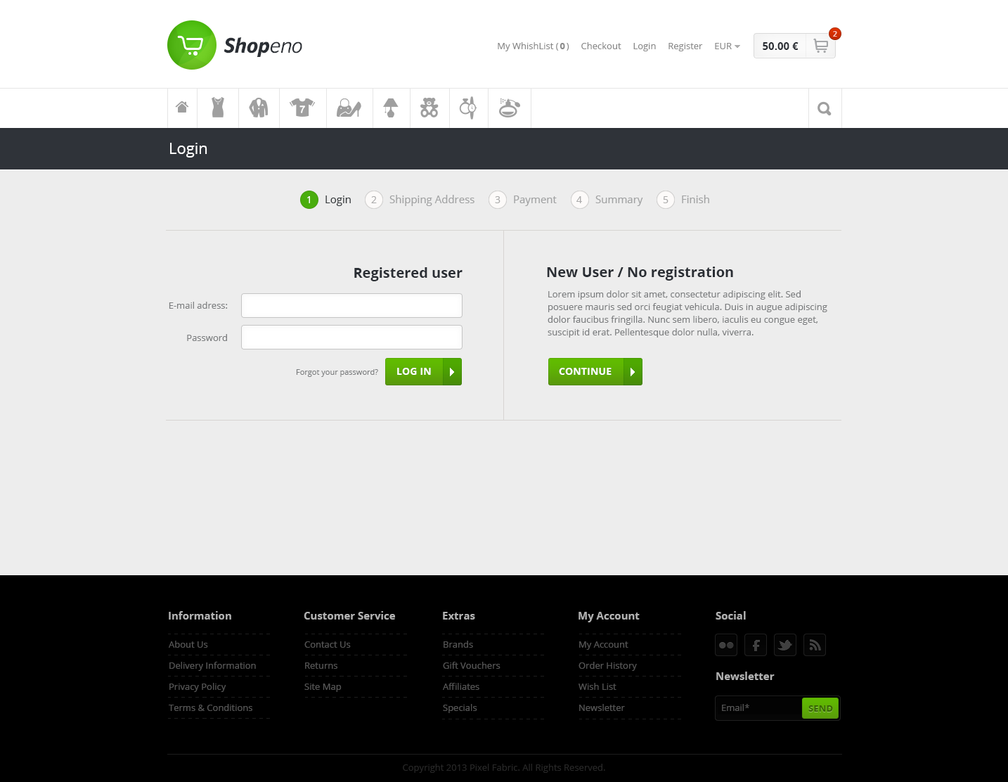 Shopeno - Modern Ecommerce PSD Template