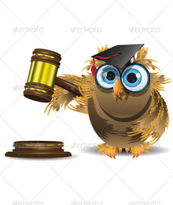 GraphicRiver judge owl 3891498